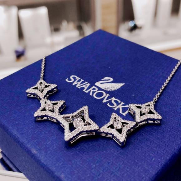 f704a98b3ec53 SPARKLING DANCE STAR NECKLACE, MEDIUM, WHITE Boutique